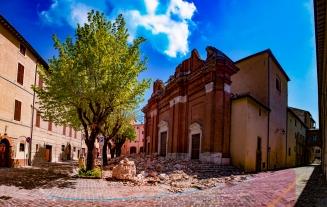 Camerino, tzw. czerwona strefa sześć miesięcy po trzęsieniu ziemi z 26 października 2016 roku (fot. Paolo Morassi)